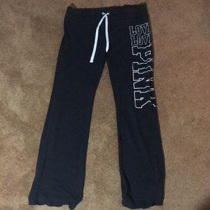 Victoria's Secret PINK black sweatpants,size large